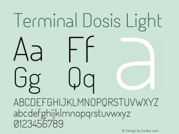 Terminal Dosis Light Version 1.005 Font Sample