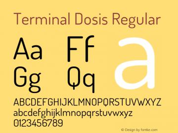 Terminal Dosis Regular Version 1.007 Font Sample