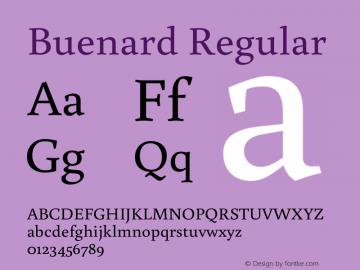 Buenard Regular Version 1.001 2011 Font Sample