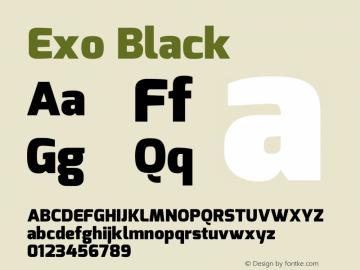 Exo Black Version 1.00 Font Sample