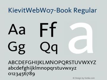 KievitWebW07-Book Regular Version 7.504 Font Sample