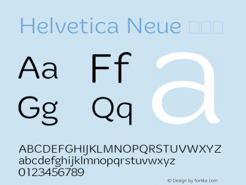 Helvetica Neue 超细体 10.0d35e1图片样张