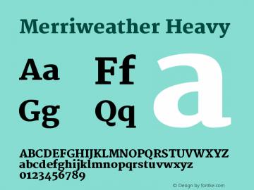 Merriweather Heavy Version 1.003 Font Sample