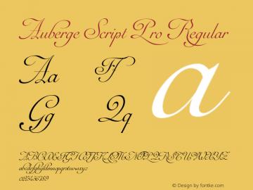 Auberge Script Pro Regular Version 1.000 Font Sample