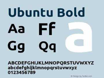 Ubuntu Bold Version 0.69 Font Sample