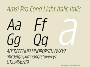 Amsi Pro Cond Light Italic Italic Version 1.40图片样张