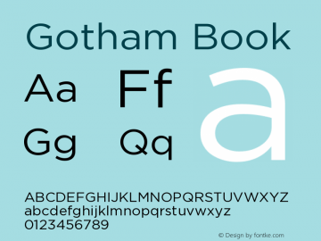 Gotham Book Version 001.000图片样张