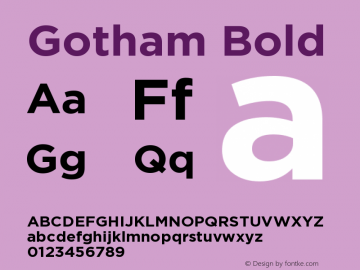 Gotham Bold Version 001.000图片样张