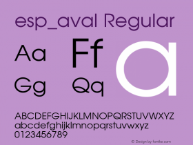 esp_aval Regular Unknown Font Sample
