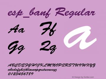 esp_banf Regular Unknown Font Sample