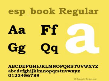 esp_book Regular Unknown Font Sample