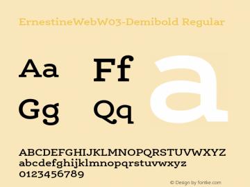 ErnestineWebW03-Demibold Regular Version 7.504 Font Sample