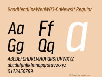 GoodHeadlineWebW03-CnNewsIt Regular Version 7.504图片样张