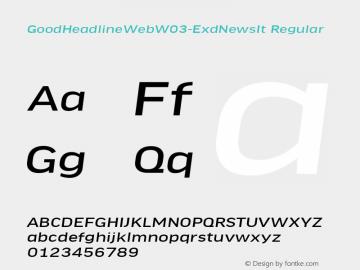 GoodHeadlineWebW03-ExdNewsIt Regular Version 7.504图片样张