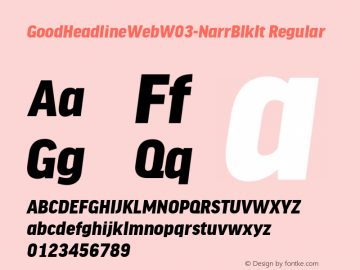 GoodHeadlineWebW03-NarrBlkIt Regular Version 7.504图片样张