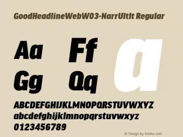 GoodHeadlineWebW03-NarrUltIt Regular Version 7.504图片样张