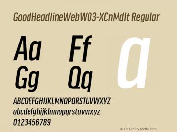GoodHeadlineWebW03-XCnMdIt Regular Version 7.504图片样张