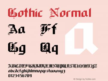 Gothic Normal Macromedia Fontographer 4.1 9/19/96图片样张