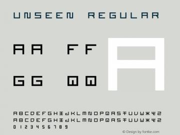 Unseen Regular 1.000 Font Sample