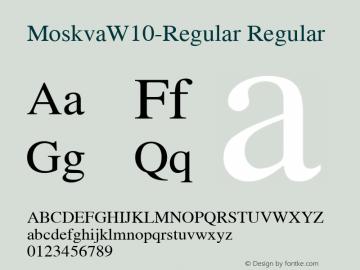 MoskvaW10-Regular Regular Version 2.20图片样张