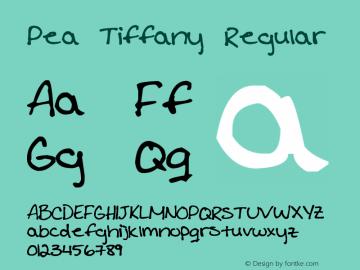 Pea Tiffany Regular Version 1.00 February 20, 2015, initial release Font Sample