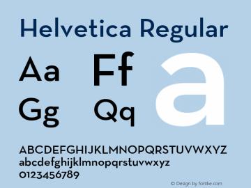 Helvetica Regular Unknown Font Sample