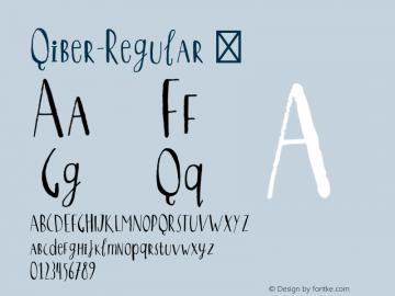 Qiber-Regular ☞ Version 1.000;PS 001.000;hotconv 1.0.70;makeotf.lib2.5.58329;com.myfonts.easy.northernblock.qiber.regular.wfkit2.version.46En Font Sample