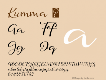 Kumma ☞ Version 1.000 2013 initial release;com.myfonts.easy.eurotypo.kumma.regular.wfkit2.version.46jJ Font Sample