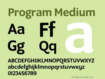 Program Medium Version 1.0 Font Sample