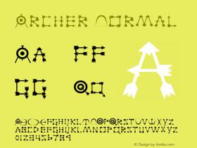 Archer Normal 1.0/1995: 2.0/2001 Font Sample
