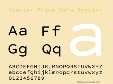 Courier Prime Sans Regular Version 3.020 Font Sample