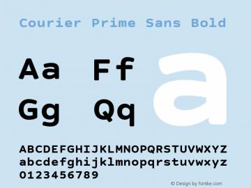 Courier Prime Sans Bold Version 3.020 Font Sample