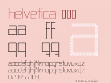 Helvetica 常规体 9.0d4e1 Font Sample