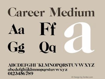 Career Medium Version 001.000 Font Sample
