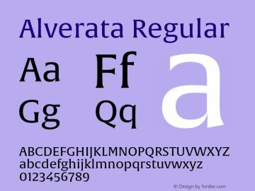 Alverata Regular Version 1.001 Font Sample