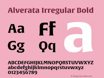 Alverata Irregular Bold Version 1.000 Font Sample