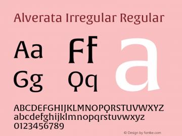 Alverata Irregular Regular Version 1.000 Font Sample