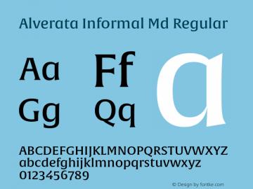 Alverata Informal Md Regular Version 1.000图片样张