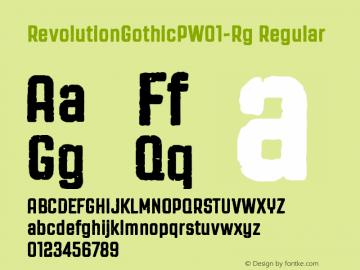 RevolutionGothicPW01-Rg Regular Version 1.00 Font Sample