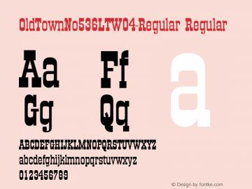 OldTownNo536LTW04-Regular Regular Version 1.00图片样张