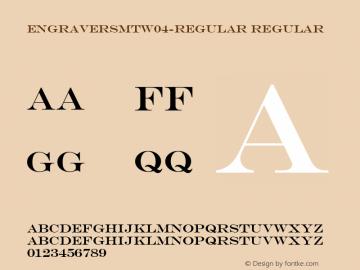 EngraversMTW04-Regular Regular Version 1.00 Font Sample
