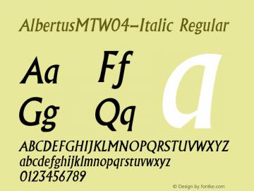 AlbertusMTW04-Italic Regular Version 1.00图片样张