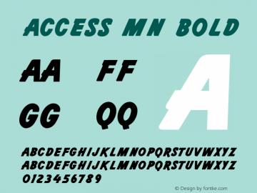 Access MN Bold 001.003 Font Sample