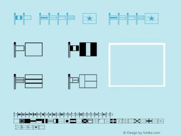 FZ DING 47 DING47 Version 1.000 Font Sample