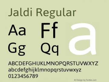 Jaldi Regular Version 1.004 Font Sample