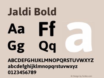 Jaldi Bold Version 1.004 Font Sample