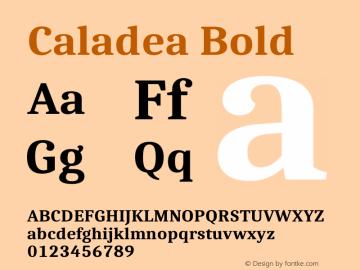 Caladea Bold 1.002图片样张