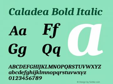 Caladea Bold Italic 1.002图片样张