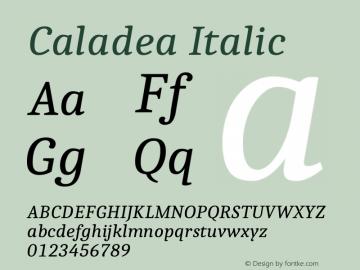 Caladea Italic 1.002图片样张