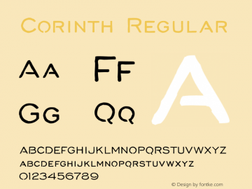 Corinth Regular Version 1.000图片样张